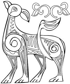 Celtic Animals Printable Colouring Book Pages