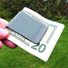 Carbon Fiber Money Clip - Green