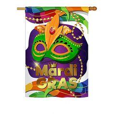Mardi Gras Mask House Flag