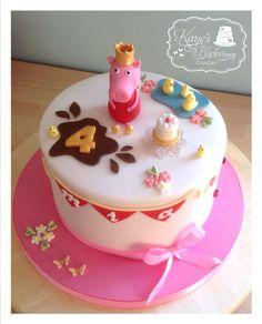 Princess Peppa birthday cake by Kaye's Backroom Cakery