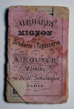 """Letterology: Alphabet Mignon. 2x3"""" French embroidery booklet."""