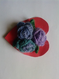 Crochet purple flower