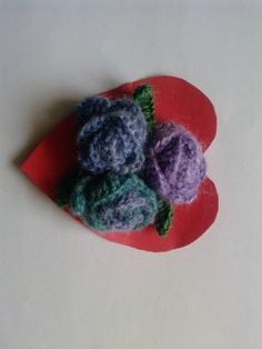 Crochet purple flower