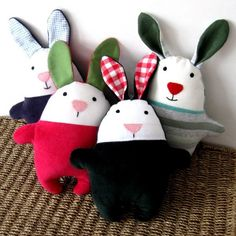 Simple Rag Doll Patterns   Free Download Ideas Pattern Rag Doll Rabbit Bunny Sewing Tutorial Soft ...