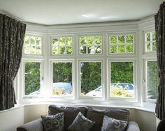 Deco Casement Windows and Coordinated Front Door in Harborne - Harborne Sash Window Co Birmingham