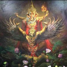 Shri Ganesh! + Garuda.