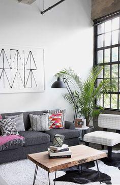 Novel Small Living Room Design and Decor Ideas that Aren't Cramped - Di Home Design Home Design, Design Ideas, Modern Design, Design Styles, Design Design, Living Room Modern, Living Room Designs, Small Living, Cozy Living