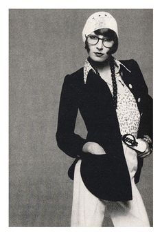 Anjelica Huston fotografiada por Richard Avedon, 1973