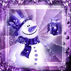purple snow man   Purple Snowman Picture #126863733   Blingee.com