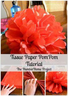 Tissue Paper PomPoms Tutorial