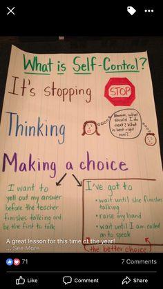 Responsive Classroom Activities - teaching kids self-control Classroom Behavior, School Classroom, Student Behavior, Behavior Management, Classroom Management, Relation D Aide, Counseling Activities, Classroom Activities, Classroom Ideas