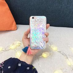 New laser shinning love hearts Phone Case Clear back cover for iphone 6 6s 6plus 6splus glitter transparent back cover cases