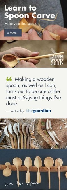 Spoon Carving with Barn The Spoon