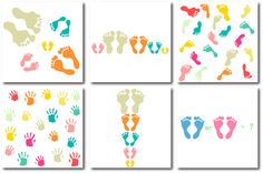 Footprints and palmprints by Orangepencil on @creativemarket