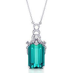 Tiffany diamond and aquamarine