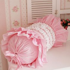 Pastoral style Korean homes matching cute pink little Princess bedding Suite Plaid candy pillow
