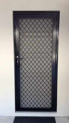 Black Diamond Grille Security Screen Door