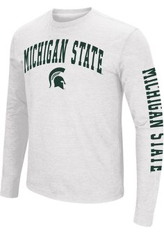 f40510437 Colosseum Michigan State Spartans White Jackson Long Sleeve T Shirt -  15037181