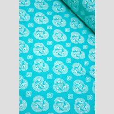 And Old Lace - Cerulean - Tsuru - Rashida Coleman Hale - Cloud 9 Organic Fabrics