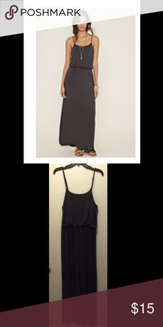 Charcoal Cami Maxi Dress Perfect cami maxi dress in charcoal. Never been worn. Size medium. Forever 21 Dresses Maxi