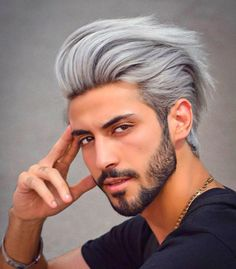 Mens Hairstyles Fade, Tomboy Hairstyles, Funky Hairstyles, Trending Hairstyles, Hairstyles Haircuts, Haircuts For Men, Hairstyle Men, Hair And Beard Styles, Curly Hair Styles