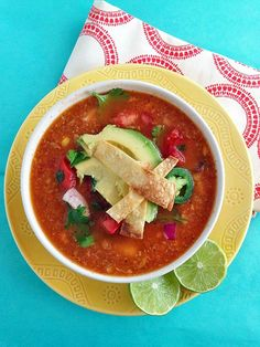 Recipe For Chicken Tortilla Soup with Fire Roasted Tomatoes