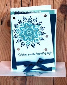 Frosted Medallion Rock 'n' Roll Stampin Up Christmas, Christmas 2016, Christmas Cards, Xmas, Daydream Medallions, Day Wishes, Winter Cards, Love Cards, Homemade Cards