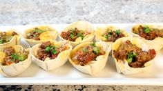 If you're like me, you love tacos. Actually, any type of Mexican cuisine is right up my alley. I modified my go-totaco recipe to become the perfect two-bite appetizer – mini taco cups! Below are the detailed instructions and our how-to video. Ingredients 1 lb ground beef (or ground turkey)