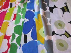Nine 20 x 118cm Pieces of Marimekko Unikko Fabric | eBay