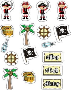 Get your pirate printables and coloring pages Pirate Preschool, Pirate Activities, Pirate Crafts, Deco Pirate, Pirate Theme, Pirate Treasure Maps, Birthday Charts, Pirate Birthday, Kids Events