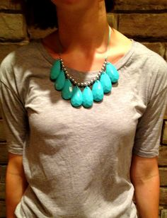 diy statement necklace... so glad i didn't end up buying this yesterday for thirty bucks!
