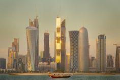 Doha New Towers. View on Facebook @ https://www.facebook.com/SinbadsQatarPocketGuide  photo: Sam Agnew