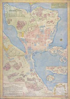 Helsinki 1763. Lähde: sinettiarkisto.hel.fi Helsinki, Time Travel, Maps, World, Historia, Map, Peta, The World, Cards