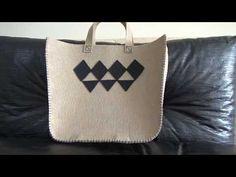 Keçeden farklı ve estetik bir ÇANTA!Kendin Yap/Dıy/handmade - YouTube