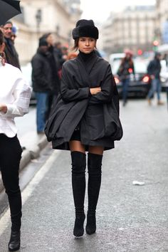 Miroslava Duma Street Style - Fashion Week Street Style - When: Paris Couture Week, January 2014 Foto Fashion, Star Fashion, Paris Fashion, Womens Fashion, Fashion Trends, Street Fashion, Petite Fashion, Couture Fashion, Street Style Chic