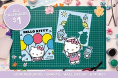 Welcome to scrapbooking heaven. Calendars are great for re-purposing and making all sorts of DIY crafts and scrapbooking supplies. Scrapbook Supplies, Scrapbooking, Cheap Art, Diy Supplies, Bag Patterns, Upcycled Crafts, Hello Kitty, Calendar, Rest