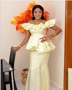Latest African Fashion Dresses, African Dresses For Women, African Attire, African Women, African Blouses, African Lace, Plus Size Dresses, Plus Size Outfits, African Print Dress Designs