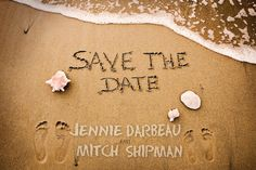 Names in Sand // Save the Date Destination Wedding // Jamaica Mexico Dominican Cabo// on Etsy, $2.00 CAD