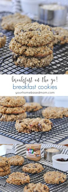 Cookies Breakfast Cookies make the perfect breakfast on the go – easy, delicious and good for you too! Choose your own mix ins!Breakfast Cookies make the perfect breakfast on the go – easy, delicious and good for you too! Choose your own mix ins! Oatmeal Breakfast Cookies, Breakfast Cookie Recipe, Cookie Recipes, Breakfast Recipes, Breakfast Healthy, Breakfast Ideas, Breakfast Muffins, Healthy Breakfast On The Go For Kids, Oatmeal Muffins