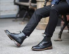 Wingtips and skinny black.