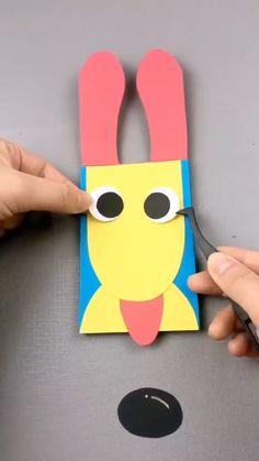 Fun Diy Crafts, Paper Crafts For Kids, Diy Crafts Videos, Preschool Crafts, Diy Christmas Gifts For Kids, Halloween Crafts For Kids, Diy For Kids, Kids Birthday Cards, Diy Birthday