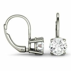0.45 Ct 925 Sterling Silver H SI2-3 Round Multi Color Diamond  Mens Ladies Round Studd Hip Hop Earring Pave set Hand Made Gift Earring