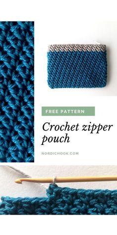 Crochet Pouch, Free Crochet, Modern Crochet, Zipper Pouch, Crochet Projects, Free Pattern, Hobbies, Crochet Patterns, Group