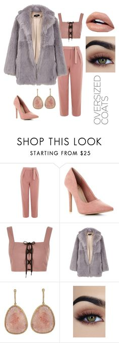 """Oversized💗"" by bluekiki ❤ liked on Polyvore featuring Topshop, River Island and TIBI"
