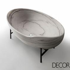 Lançamento da marca italiana Kreoo, banheira inspira leveza. Veja mais: