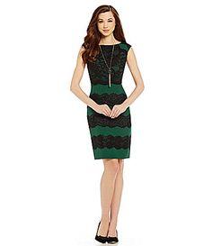 Antonio Melani Cooper Crepe and Lace Sheath Dress #Dillards