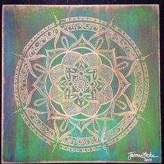 Sojourn Mandala, 1' x 1' carved on birch. www.jamielockeart.com