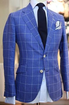 Windowpane is perfect once you have all your basic blazers and sportcoats… Mens Fashion Suits, Mens Suits, Men's Fashion, Fashion Ideas, Marcelo Mello, Classic Men, Mode Man, Suit And Tie, Well Dressed Men