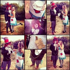 Couples Halloween Costume : Alice in Wonderland and the Mad Hatter! #alice #madhatter