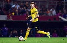 Marco Reus Of Dortmund Runs With The Ball The Uefa Champions League